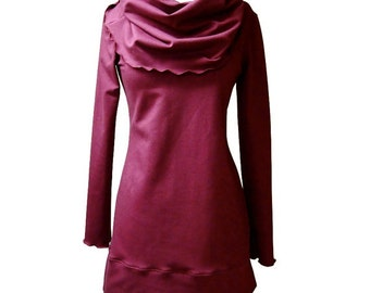 jersey knit dress with shawl collar, more colors