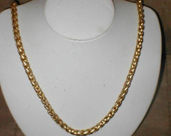 vintage 1950's Gold Rope Chain Necklace