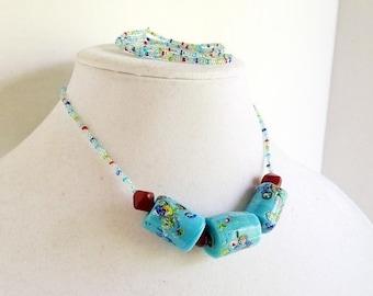Light Blue Garden Mix Beads Set
