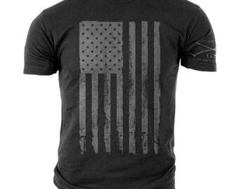 America Gray-Grunt Style graphic t-shirt