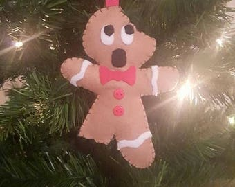 Gingerdead Man - Horror Inspired - Gingerbread Christmas Decoration - Funny Holiday Ornament