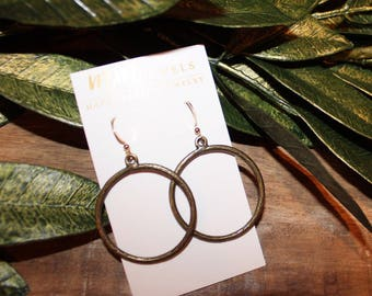 Antique Bronze Hoop Earrings | Hoop Earrings