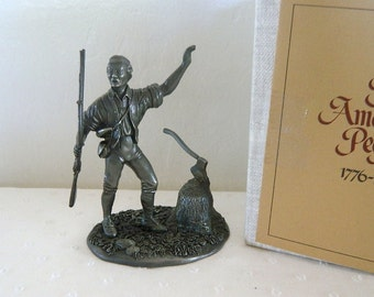 Franklin Mint - The American People Collection - The First Citizen - 1974 - Solid Pewter Figurine - MIB