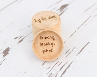 Love Quote Ring Box | Keepsake Ring Box | Engraved Ring Box | Ring Pillow Alternative | Free Shipping