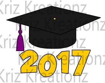 Graduation Cap Class of 2017 SVG Cut File
