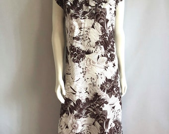 Vintage Women's 70's Hawaiian Dress, Floral, Sleeveless (S)