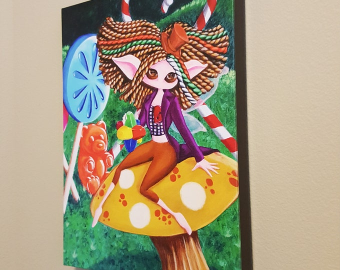 """Pure Imagination  – 12x16"""" Repro on Canvas - Inspired by Willy Wonka and Gene Wilder – MuseArt"""
