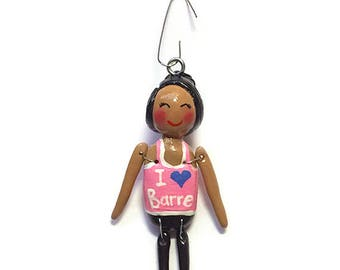 I Love Barre Collection:  Delyla (Ornament)  - CAN BE PERSONALIZED w/ Add-On Option