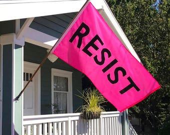 NEW! Protest-Pink RESIST Flag: Handsewn 3'x5' Resistance Protest Flag #Resist