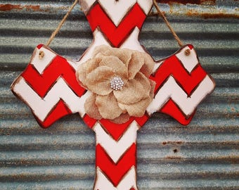 Chevron cross door hanger