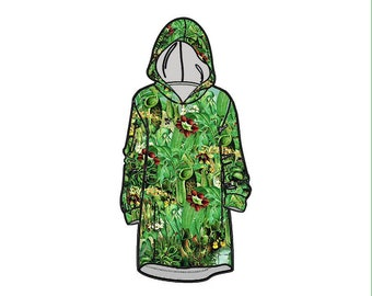 Limited Edition Carnivorous Plants Audrey II Snuggly Hoodie A-Line Dress