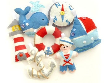 PDF instructions Nautical garland kit. Pattern. Instant download