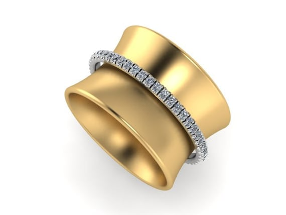 that mighty are band striking but small diamonds bands the round fire rings ring diamond in yellow this encased new gold