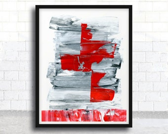 ABSTRACT painting, giclee, abstract giclee, fine art print, red and black painting, modern painting, giclee art print, acrylic painting