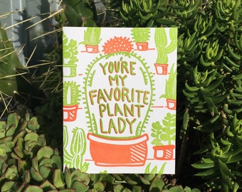 You're My Favorite Plant Lady Card