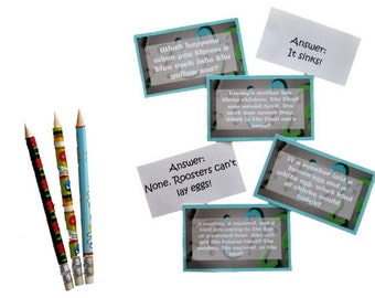 Printable Lunchbox Notes - Riddles (with answers!) - Enough for the whole school year!