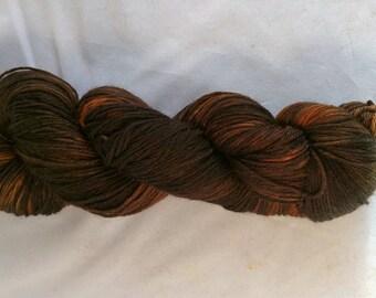 Orange Nova on MCN fingering weight yarn