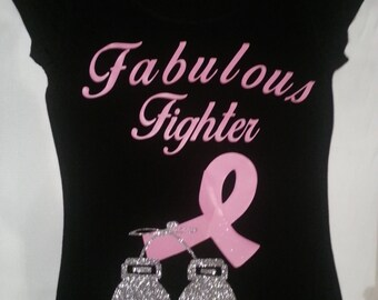 Fabulous Fighter Breast Cancer Shirt, Breast Cancer, Breast Cancer Shirt, Breast Cancer Awareness, Fight Like A Girl, Think Pink
