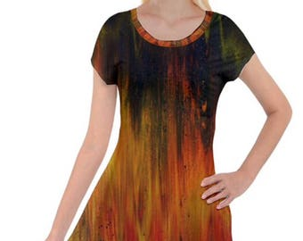 "Tunic top   Design: ""Burning Leaves""                        Designer GlendaTArtist  (Glenda Thomas)"
