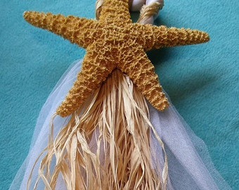 6-12  Beach Wedding Starfish Chair Decorations  - Starfish Chair Or Aisleway Decorations