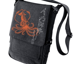 Mad Science Squid  Military Style black iPad Bag