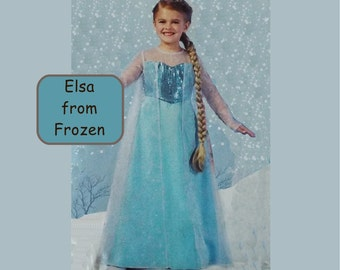 Frozen Elsa Dress Costume Girls and Misses Sizes