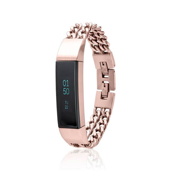 Bracelet NOE - Chain Bracelet made for Fitbit Alta - Alta HR -Ace - Rose Gold - stainless steel