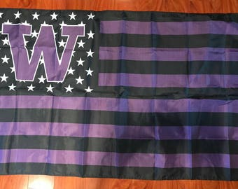 University Of Washington Huskies NCAA 3x5 Feet Flag w/Grommets Stars & Stripes