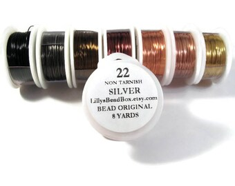22 Gauge Wire for Making Jewelry, Non Tarnish Wire, Wire Wrapping Supplies, Round Wire, You Pick the Color!