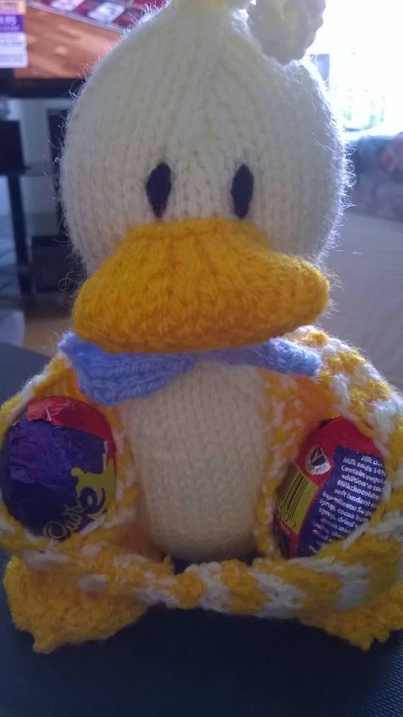 Easter Ducky Egg Holder Knitting Pattern Easter Toy Knitting