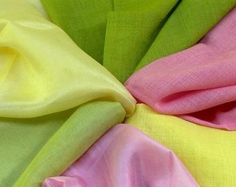 Waldorf  Play Cloth. Pure organic Silk or Organic Wool. Hand Dyed.