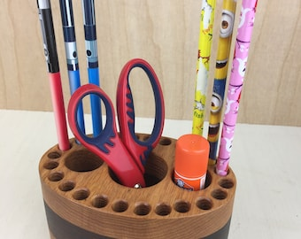 Wood Pencil Holder, Wooden Pen Holder, Crayon Organizer, Art Supply Organizer, Pencil Holder, Desk Organizer, Handmade Gift, Pencil cup