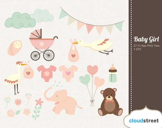 Free Baby Shower Images Girl ~ Buy 2 get 1 free baby girl clipart baby shower clipart birth