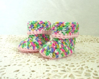 Baby Booties Crochet, crochet baby booties, Baby Girl booties, Pink baby booties, Booties for Baby Girl, Baby Shower Gift, Nursery Gift