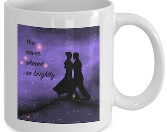 CITY OF STARS Mug - You Never Shined So Brightly - Movie Musical Fan Gift - 11 oz white coffee tea cup