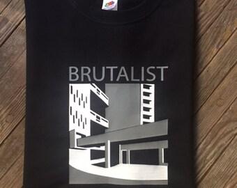 Brutalist Architecture T Shirt Modernist Brutalism Le Corbusier Building Style 1960s 1970s
