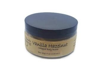 Vanilla Hazelnut Whipped Body Butter - Homemade Lotion - Natural Body Butter- Shea Butter - Feet Butter- Luxury Butter -Handmade Lotion