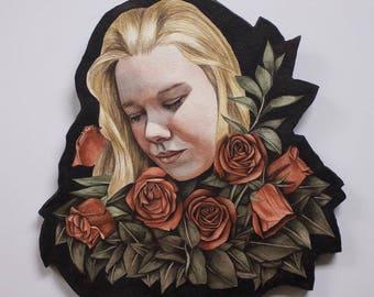 And Roses --Original Watercolor