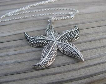 SALE- Starfish Necklace- LARGE Pendant