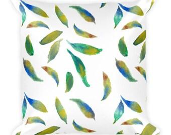 Square Pillow Leafy Design