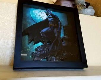 Batman 3d wall art shadow box frame