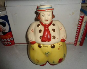 Shawnee Pottery Gold trim Happy Dutch Boy Cookie Jar
