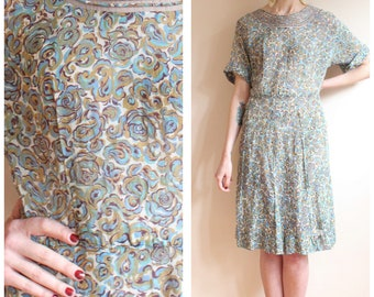 1940s Dress // In the Flowers Dress // vintage 40s dress