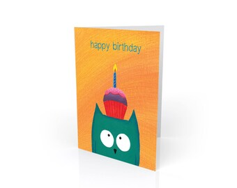 "Owl Birthday Card - ""Hope it's a Hoot"""