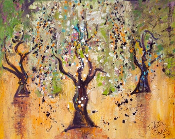 Dance of the Olive Grove - Tree Art