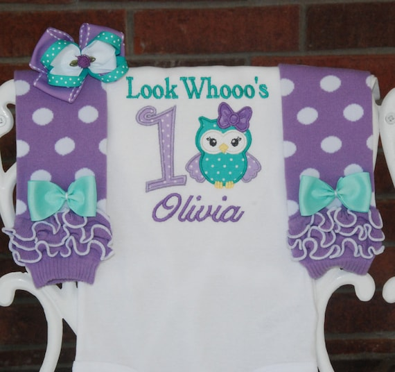Baby Girl Owl First Birthday Outfit First Birthday Outfit/Owl