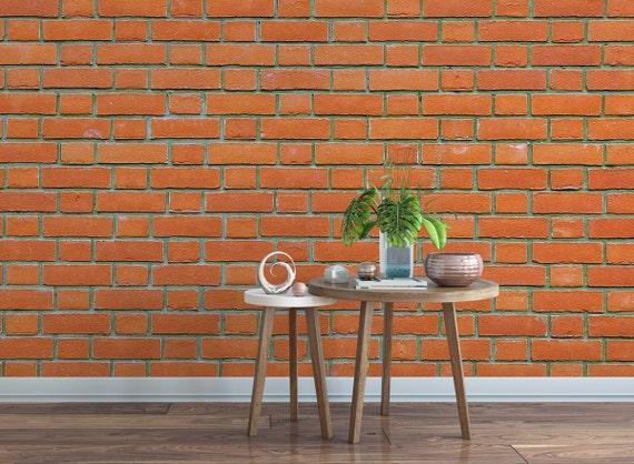 Bricks Removable Wallpaper Red
