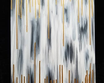 Gold and Grey abstract painting