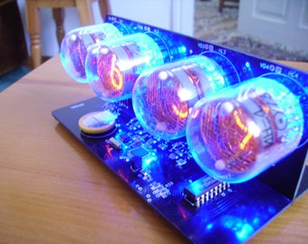 IN-4 NIXIE TUBES clock with blue backlight
