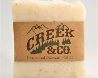 Oatmeal Soap, hot process soap, unscented soap, rustic soap, handcrafted soap, kitchen soap, homemade soap, shower soap, handmade soap